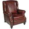 This item: Drake Red Leather Recliner