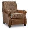 This item: Brandy Brown Fabric and Leather Recliner