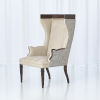 This item: Wrenn Marbled Gray Leather Chair