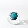 This item: Studio A Home Azure Hexagon Cut Glass Vase
