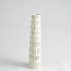 This item: Antique White 20-Inch Totem Vase