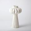 This item: Lithos White 10-Inch Large Vase