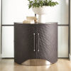This item: Milan Brushed Nickel 40-Inch Leather Chest
