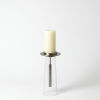 This item: Antique Nickel Seven-Inch Small Candle Holder