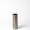 This item: Antique Nickel Four-Inch Textural Band Small Vase
