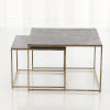 This item: Studio A Home Gold and Black Sand Casted Nesting End Tables, Set of 2