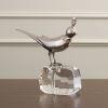 This item: Nickel Four-Inch Bird on Crystal Rock Figurine