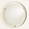 This item: Floating Dark Bronze Mirror With Brass Clips