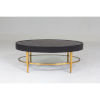 This item: Ellipse Black and Gold Cocktail Table