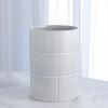 This item: Studio A Home Seaglass Blue Medium Glassblock Vase