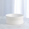 This item: Studio A Home Chalk White Small Encircle Scored Bowl