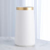 This item: Studio A Home White Large Modern Gold Banded Vase