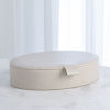 This item: Studio A Home White Large Signature Oval Leather Box