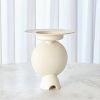 This item: Studio A Home White Camille Geometric Vase
