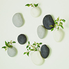 This item: Pebble Ivory Wall Vases, Set of 3