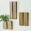 This item: Bronze Pyramid Small Wall Vase