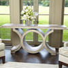 This item: Link Gray and Silver Leaf Console