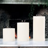 This item: 3-Wick Unscented Pillar Candle - 6 x 12