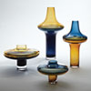 This item: Low Amber Over Cobalt Small Vase