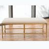 This item: Studio A Quad Pod Gold Leaf Bench with Muslin Cushion