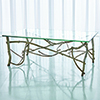 This item: Studio A Silver Leaf Twig Cocktail Table