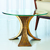This item: Studio A Lotus Antique Gold End Table
