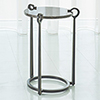 This item: Studio A Brown Marble and Bronze Round Clamp Accent Table