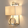 This item: Fortune Teller Polished Stainless Steel Two-Light Sconce