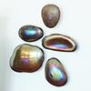 This item: Metallic Glass Wall Gems, Set of 5