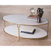 This item: Iron and Stone Oval Coffee Table