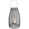 This item: Graphite Large Gauze Candleholder