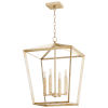 This item: Aged Silver Leaf Four-Light Chandelier