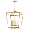 This item: Aged Silver Leaf Six-Light Chandelier