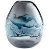 This item: Blue and White 11-Inch Mescolare Vase