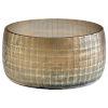 This item: Combed Iridescent Gold 12-Inch Gradient Grid Vase