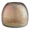 This item: Combed Iridescent Gold Gradient Grid Vase