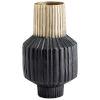 This item: Matt Black and Gold 6-Inch Allumage Vase