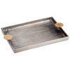 This item: Silver and Gold 16-Inch Obscura Tray