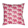 This item: Lolita Elephant Hot Pink and Ivory 16 x 16 In. Pillow with Poly Fill