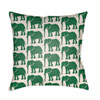 This item: Lolita Elephant Kelly Green and Ivory 18 x 18 In. Pillow with Poly Fill