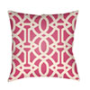This item: Litchfield Massey Hot Pink and Ivory 16 x 16 In. Pillow with Poly Fill
