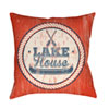 This item: Litchfield Lake Navy Blue and Poppy Red 16 x 16 In. Pillow with Poly Fill
