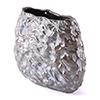 This item: Stones Medium Vase Metallic Brown and White