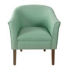 This item: Modern Barrel Textured Aqua Accent Chair