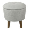 This item: Gray 18-Inch Fabric and Hardwood Ottoman