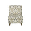 This item: Blue and Cream 27-Inch Accent chair