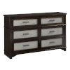 This item: Dazzle Chocolate and Champagne Drawer Dresser