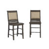 This item: Willow Distressed Dark Gray 24-Inch Upholstered Counter Chair, Set of 2