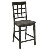 This item: Salem Gray and Black 24-Inch Window Pane Counter Chair, Set of 2