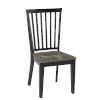 This item: Lancaster Smoke and Black Dining Chair, Set of 2